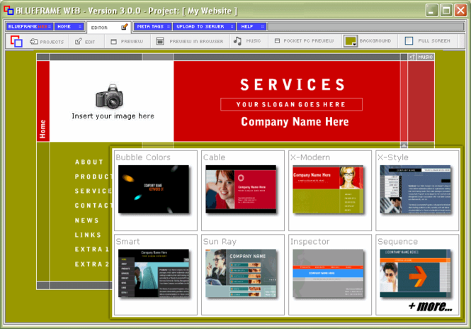 Blueframe Web Screenshot