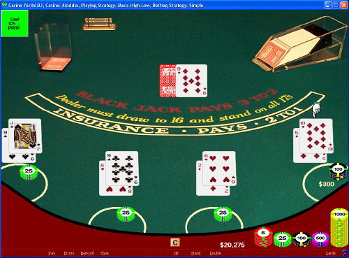 CVBasic Blackjack Screenshot