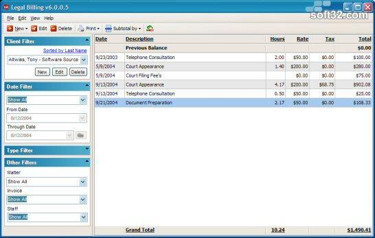 Legal Billing Screenshot 2