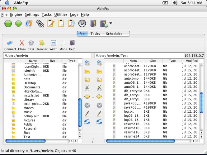AbleFTP Mac Screenshot