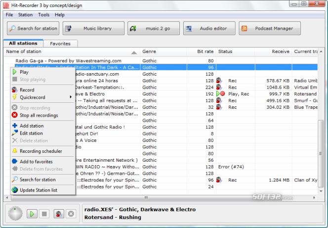 Hit-Recorder Screenshot 2