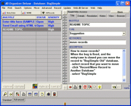 Bug Tracker Deluxe Screenshot