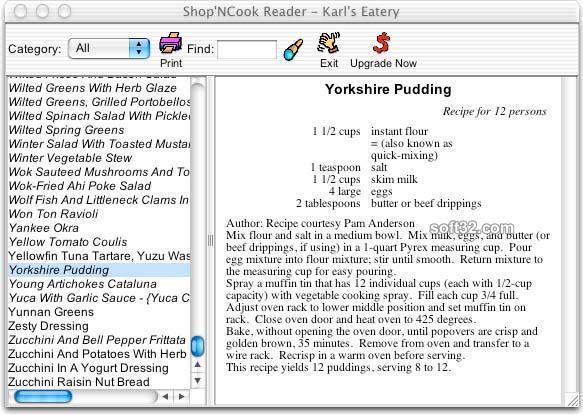 Shop'NCook Cookbook Reader for Mac Screenshot 3