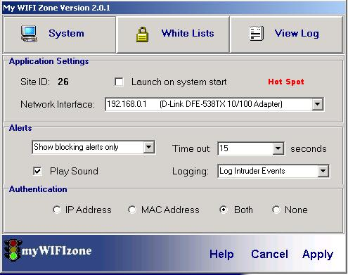 myWIFIzone WIFI Internet Access Blocker Screenshot