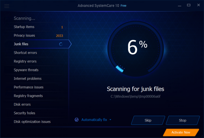 Advanced SystemCare Screenshot 2