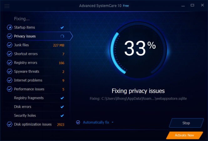 Advanced SystemCare Screenshot 4