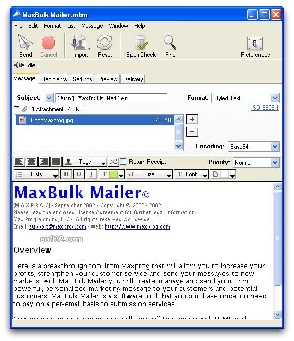 MaxBulk Mailer Screenshot 3