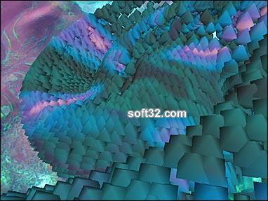 Rainbow Serpent 3D Screensaver Screenshot 2