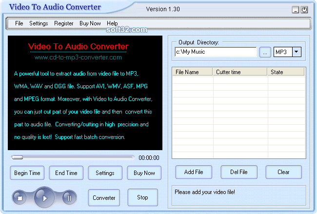Crystal Video To Audio Converter Screenshot 3