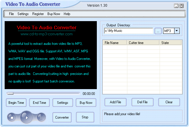 Crystal Video To Audio Converter Screenshot