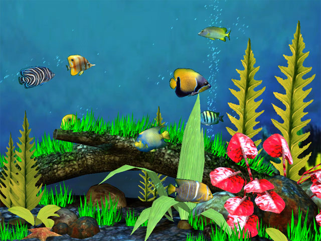 Astro Gemini Software Fish Aquarium 3D Screensaver Screenshot