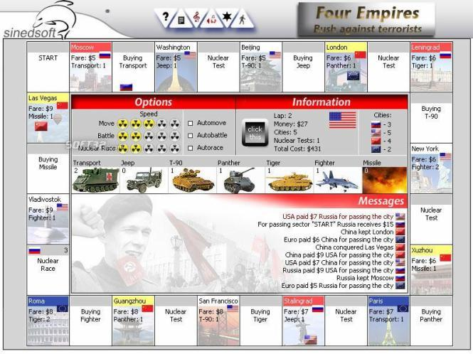 Four Empires: Bush against terrorists Screenshot 2