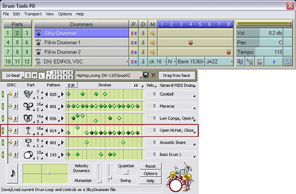 DrumTools Performance Designer Screenshot
