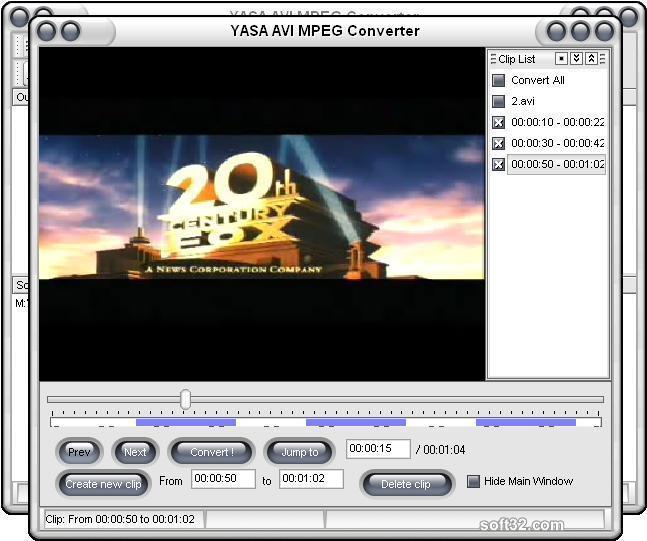 YASA AVI MPEG Converter Screenshot 2