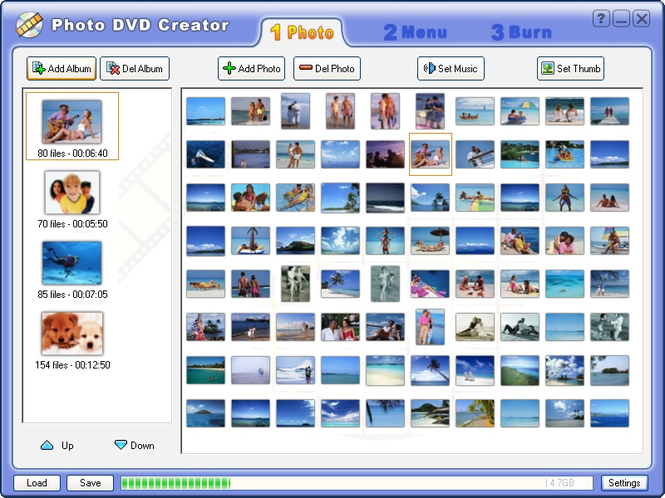 Photo DVD Creator Screenshot