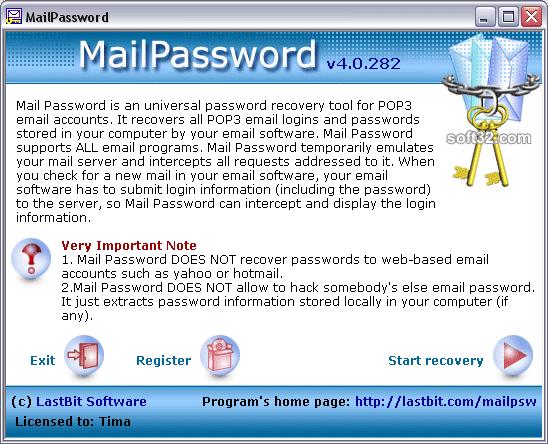 Mail Password Screenshot 2