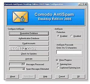 Comodo Antispam Desktop 2005 Screenshot 2
