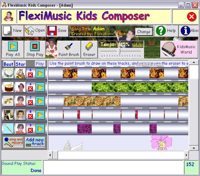 FlexiMusic Kids Composer Screenshot 2