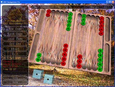 2010 Backgammon Screenshot