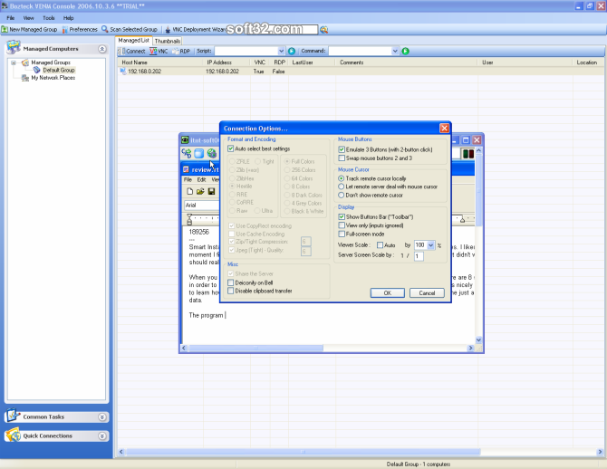 VNC Scan Enterprise Console Screenshot 2