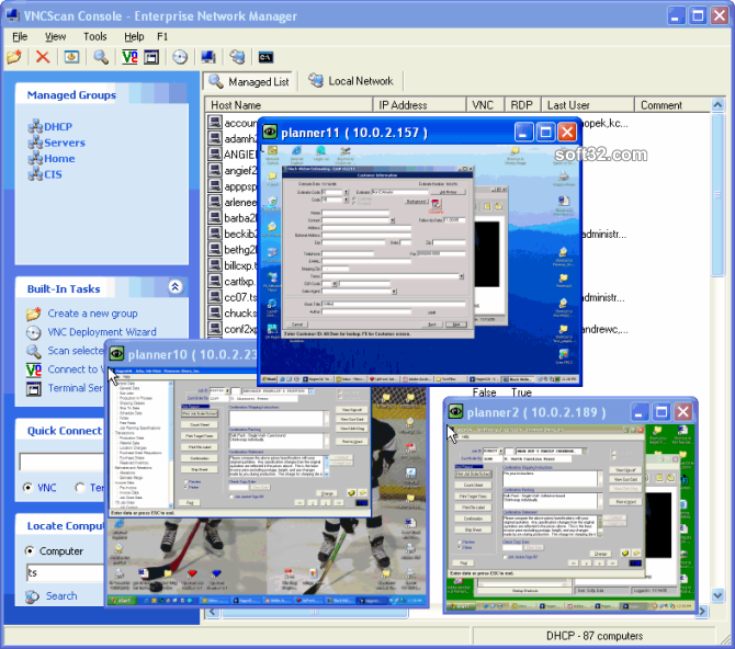 VNC Scan Enterprise Console Screenshot 8