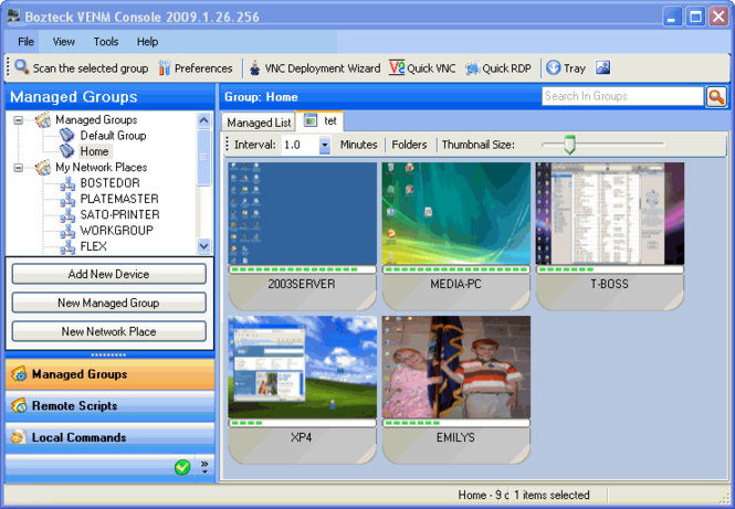 VNC Scan Enterprise Console Screenshot 5