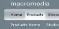 Macromedia style menu for Dreamweaver 1