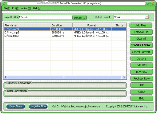 123 Audio File Converter Screenshot 3