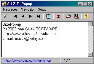 SizePopup Screenshot