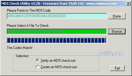 MD5 Checker Screenshot 1