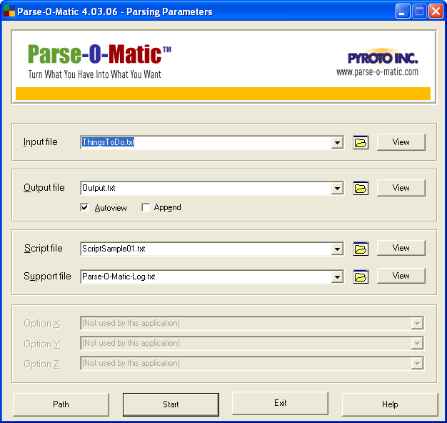 Parse-O-Matic Free Edition Screenshot