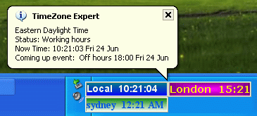 Timezone Expert  world time zone clock Gold Edtion Screenshot