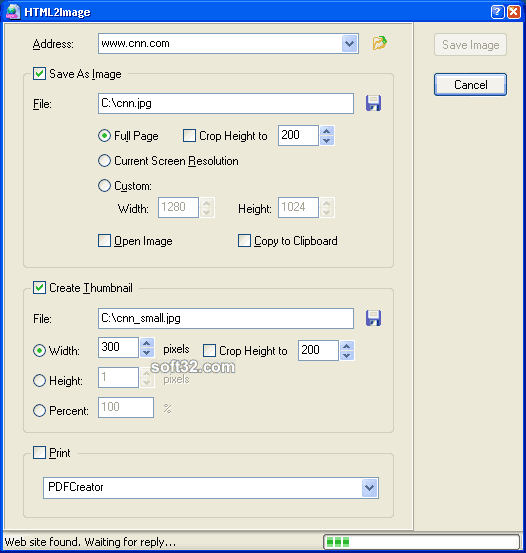 SysImage HTML2Image Screenshot