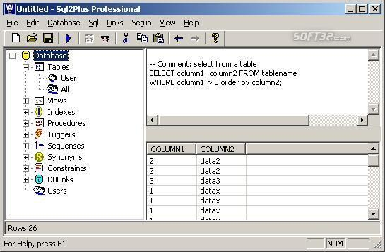 Sql2Plus Professional Screenshot