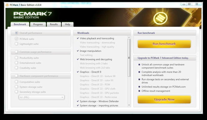 PCMark 7 Screenshot