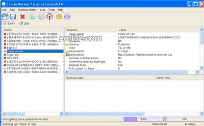 Cobian Backup Screenshot 1