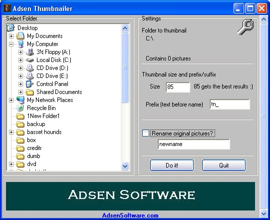 Adsen Thumbnailer Screenshot 1
