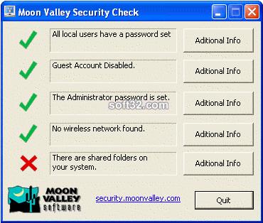 Security Check Screenshot
