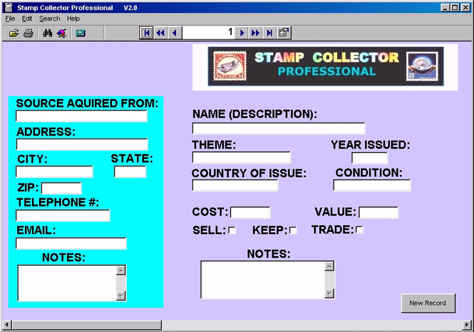 Stamp Collector Professional Screenshot 1