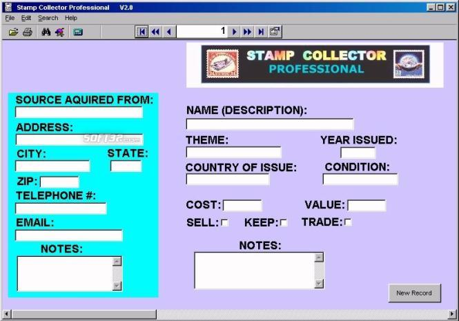 Stamp Collector Professional Screenshot 2
