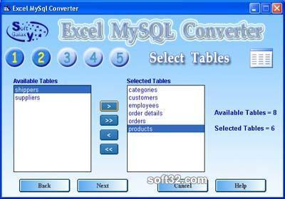 Excel-Mysql converter Screenshot 3