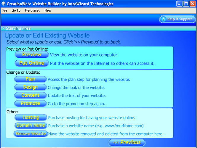 CreationWeb Personal Edition Screenshot