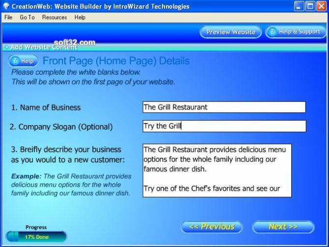 CreationWeb Business Edition Screenshot 3