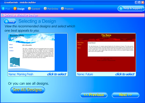 CreationWeb Studio Edition Screenshot