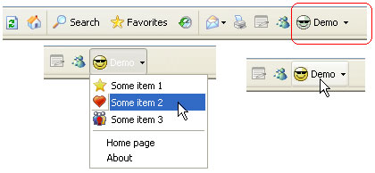 Demo button for Internet Explorer (IEDemoButton) Screenshot