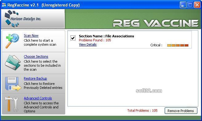 Reg Vaccine Screenshot