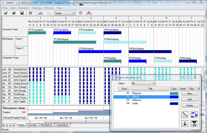 Multi Project Planner Screenshot