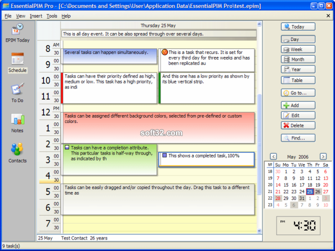 EssentialPIM Pro Portable Screenshot 3