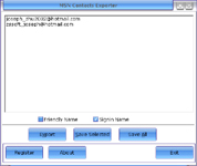 MSN Contacts Exporter Screenshot