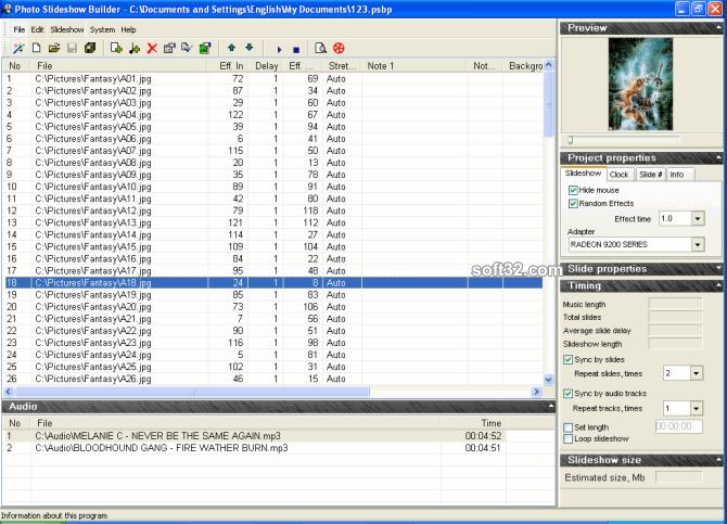 Photo Slideshow Builder Screenshot 2